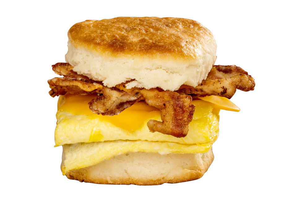 Bryants Breakfast, Bacon Egg Cheese Biscuit