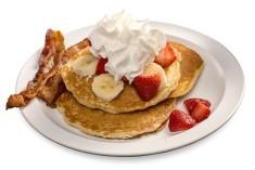 Bryant's Strawberry & Banana Pancakes